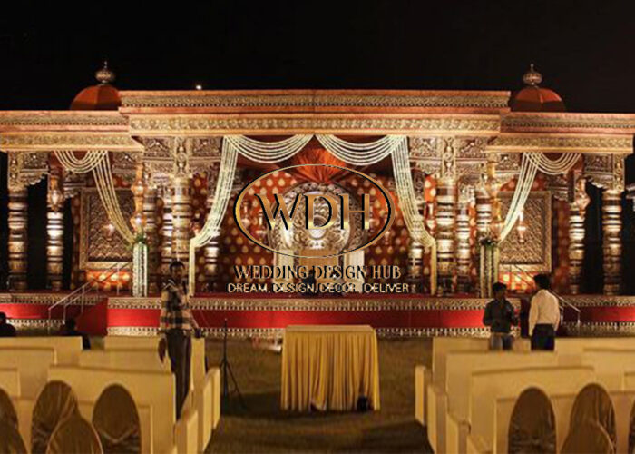 Grand Rajwada Theme Wedding Stage