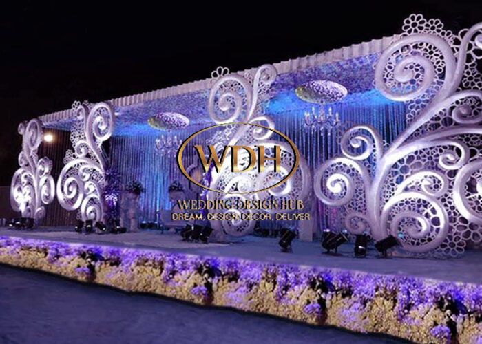 Exotic Wedding Floral Stage