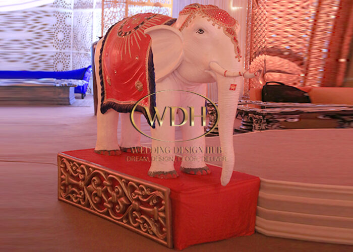 Fiber Decorative Elephant